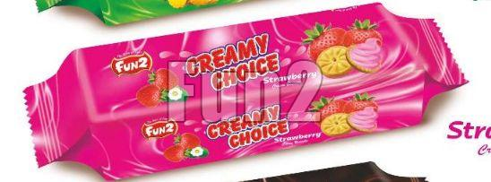 Strawberry Creamy Choice Biscuits