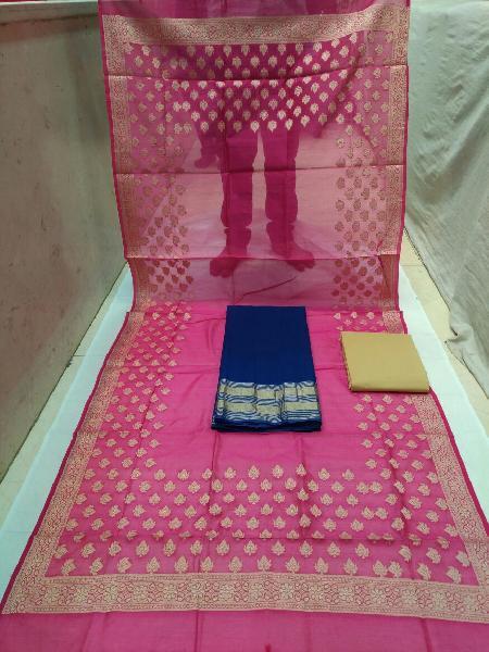 Banarasi Silk Unstitched Suits 02