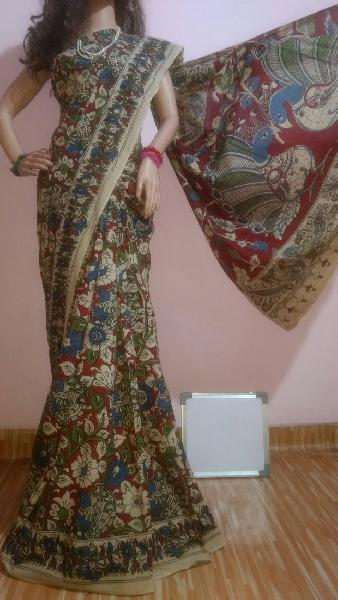 Kalamkari Silk Cotton Sarees 02