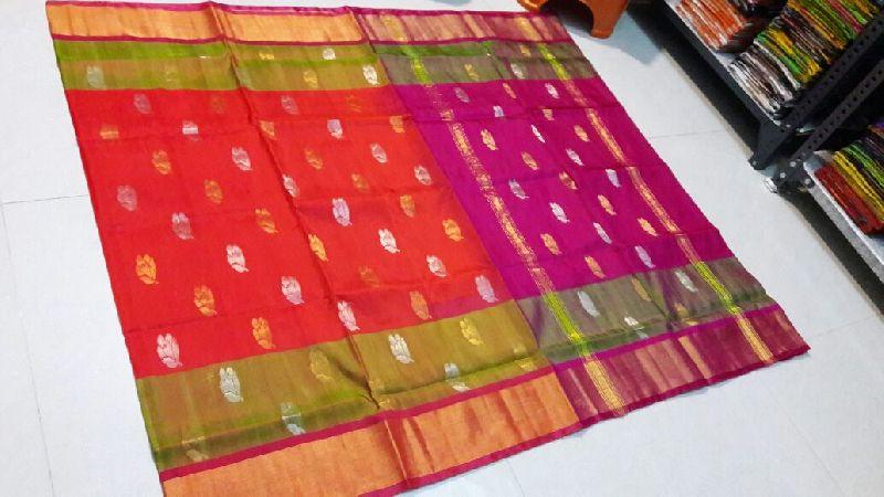 Pure Uppada Silk Jamdani Saree 03