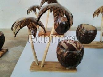 Coconut Shell Pen Stand