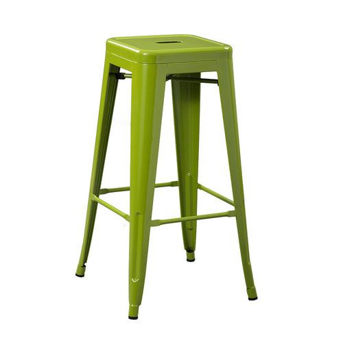 Green Metal Bar Stool