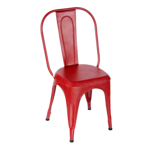 Red Color Metal Chair