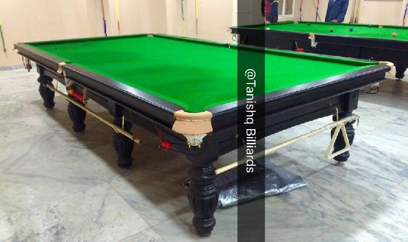 Tournament Billiards Table In Steel Block Cushions
