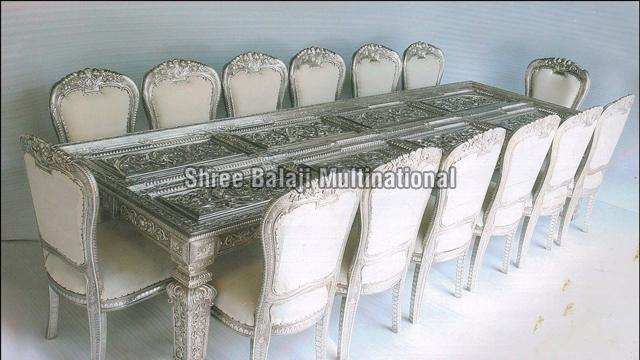 Silver Coated Dining Table Set