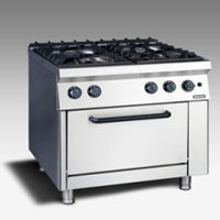 Gas Open Burner with Oven NGR 8 - 90 4F GR