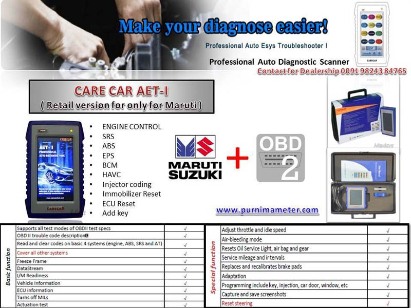 AET-I Retail version (MARUTI) CAR SCANNER