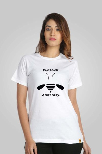 Campus Sutra White Printed Women T-shirt
