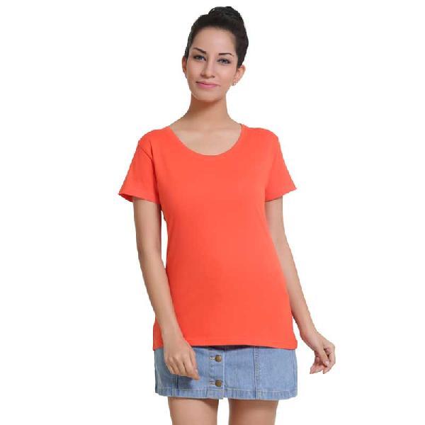 Spicy Orangeround Neck T-shirt