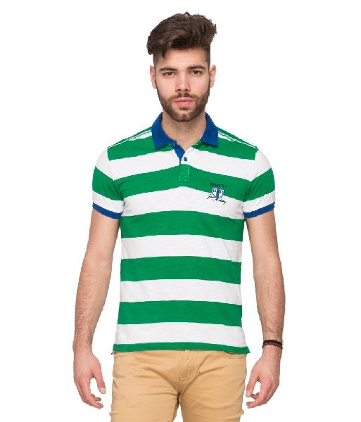 T-shirt Green Polo Neck