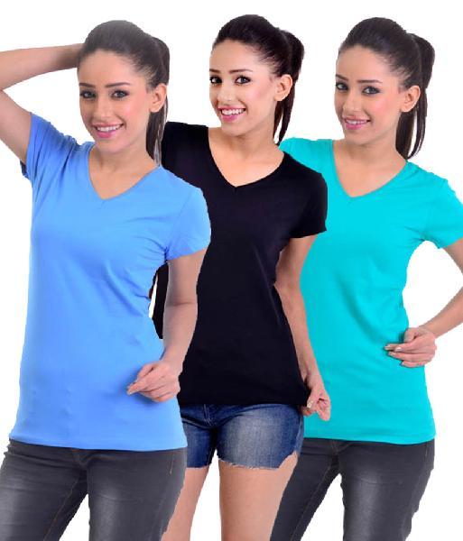V Neck T-shirt Lycry
