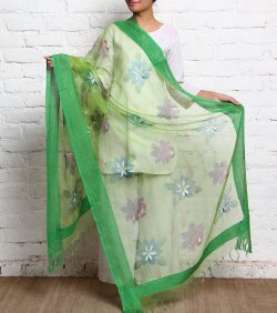 Embroidered polyester dupatta 01