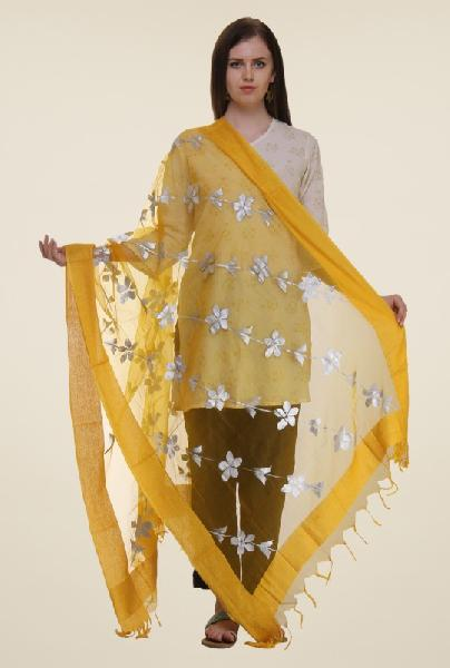 Embroidered polyester dupatta 06