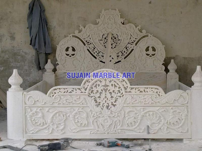 White Marble Bed 02
