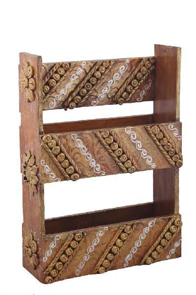 Wooden Magazine Stand 06