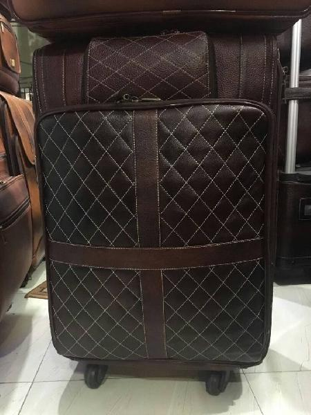 Leather Trolley Bag 04