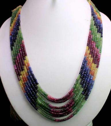 Ruby Emerald Sapphire Necklaces