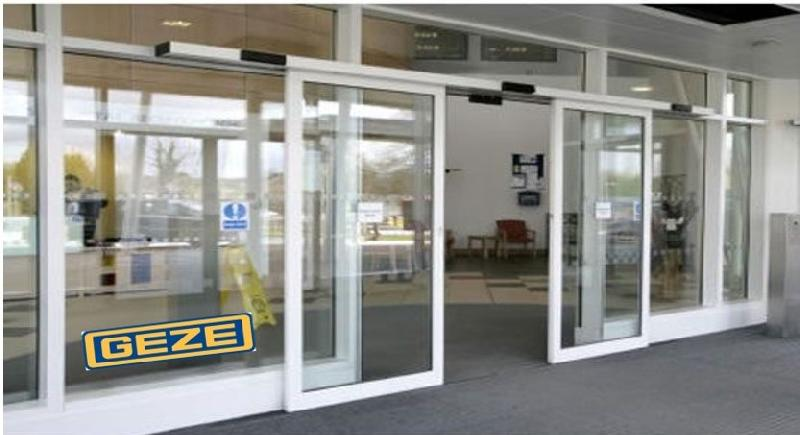 Geze automatic sliding door exporter supplier in oman for Automatic sliding door