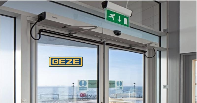 Geze automatic swing door exporter supplier in oman