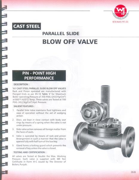 Cast Steel Blow Off Valves
