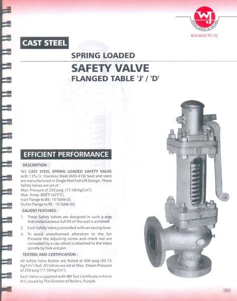 Cast Steel Safety Valves