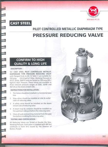 Cast Steel Pressure Reducing Valve