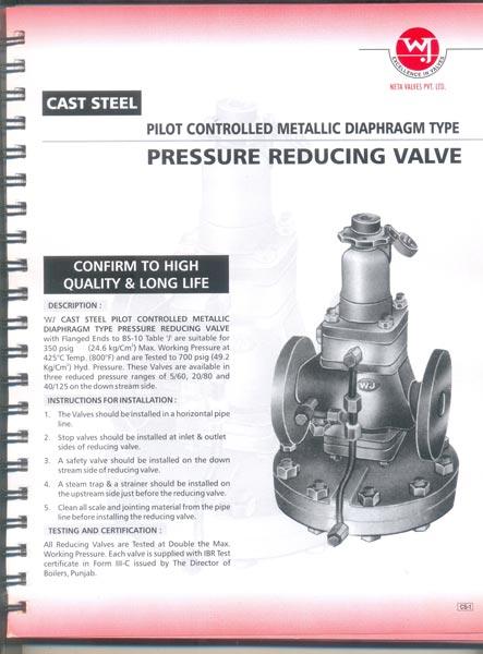 Cast Steel Pressure Reducing Valve