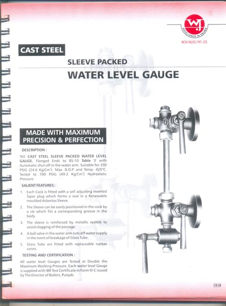Cast Steel Water Level Gauge