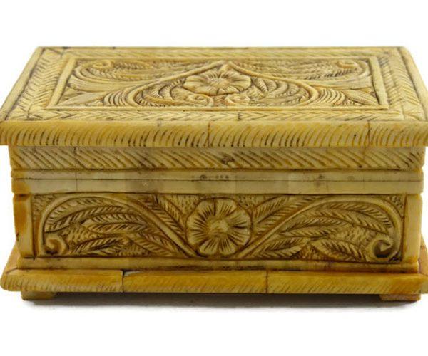 Handmade Camel Bone Square Box 01