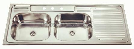 KBDB12050 Stainless Steel Two Bowl One Drain Sink