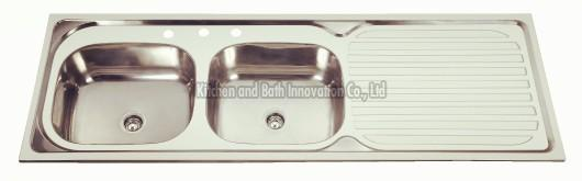 KBDB15050 Stainless Steel Two Bowl One Drain Sink