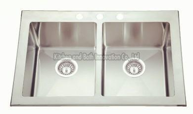 KBHD3120 Stainless Steel Topmount Double Bowl Sink