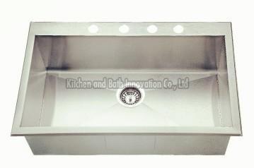KBHS2522 Stainless Steel Topmount Single Bowl Sink