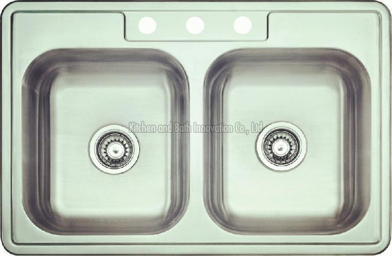 KBTD3322 Stainless Steel Topmount Double Bowl Sink