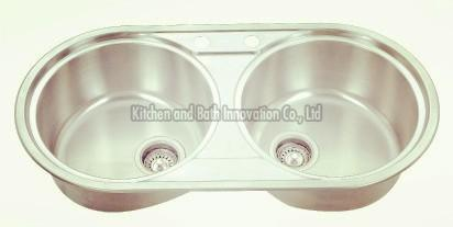 KBTD8444 Stainless Steel Topmount Double Bowl Sink