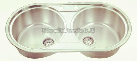 KBTD9046 Stainless Steel Topmount Double Bowl Sink