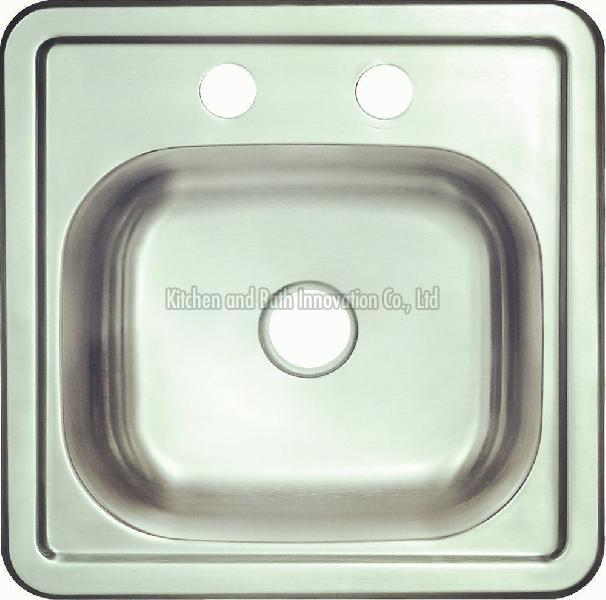 KBTS1515 Stainless Steel Topmount Single Bowl Sink