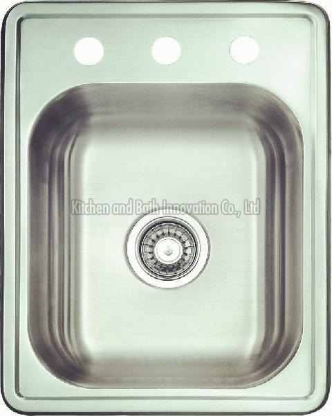 KBTS1722 Stainless Steel Topmount Single Bowl Sink