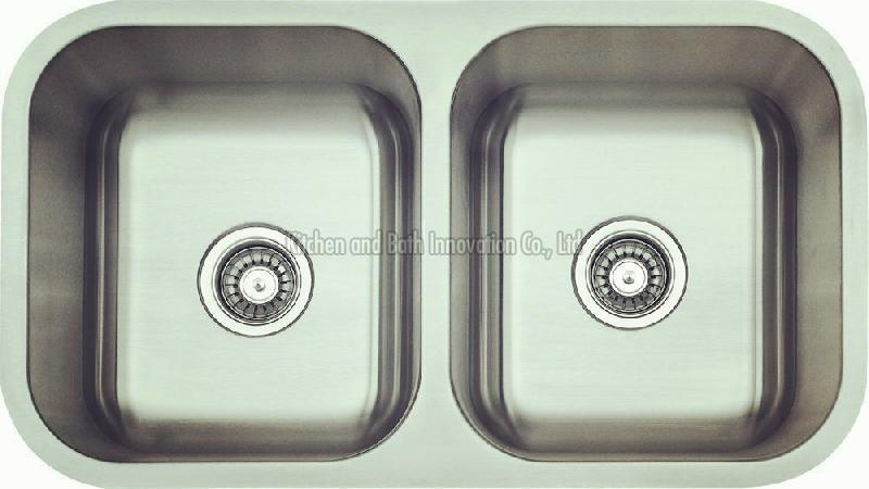 KBUD3318 Stainless Steel Undermount Double Bowl Sink