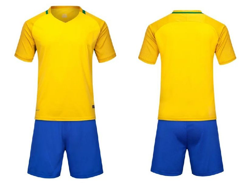 Mens Blue & Yellow Soccer Uniform