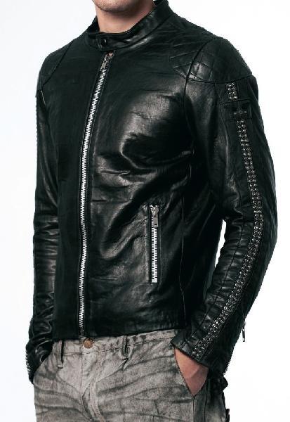 Mens Designer Black Leather Jackets