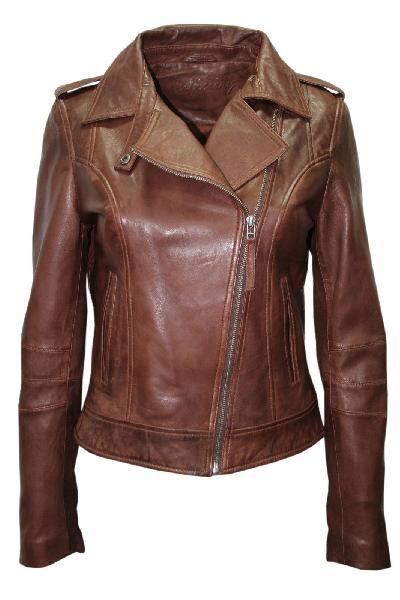 Ladies Leather Brown Jackets