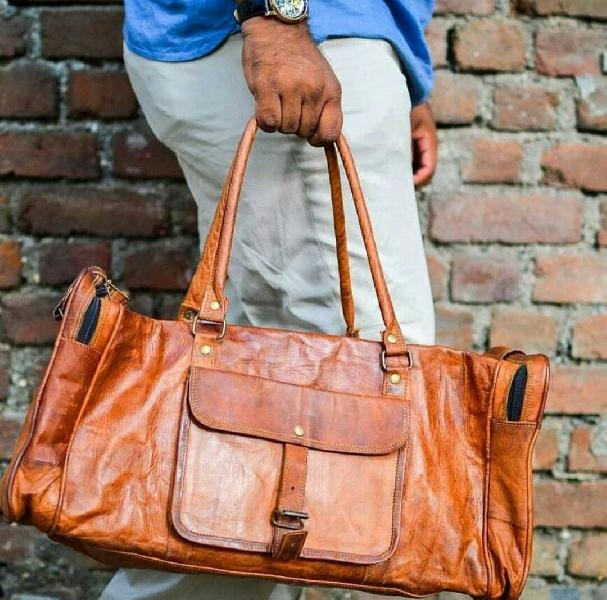 Leather Duffle Bag 02