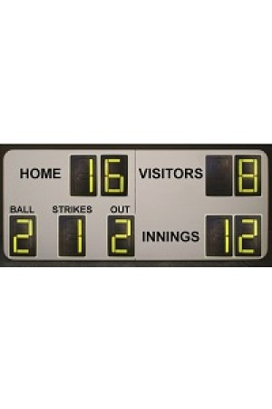 9 Digit Softball Self Supporting Scoreboard