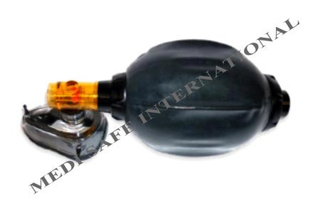 Black Rubber Autoclave Adult Resuscitator