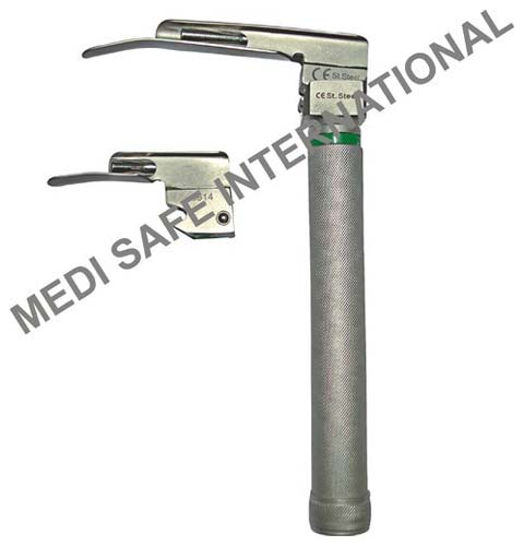 Laryngoscope Fiber Optic Handle With Miller Blades