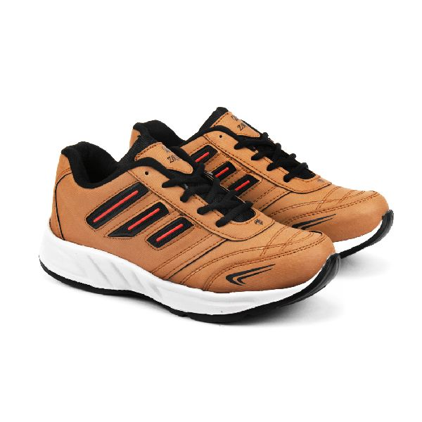 ZX 12 Mens Tan Black Shoes 01