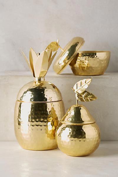 Brass Pear Shaped Jar
