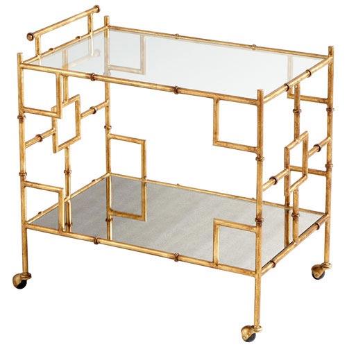 Iron Gold Bar Cart