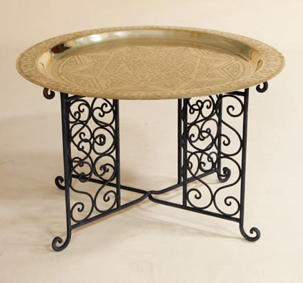 Moroccan Brass Table